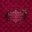Christmas badge and background — Image vectorielle