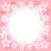 Sakura Cherry blossom background — Stock Vector