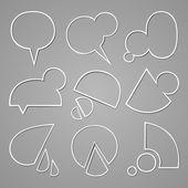 Bubbla för tal — Stockvektor