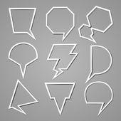 Bulle pour ensemble de discours — Vecteur
