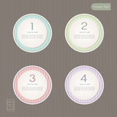 Sticker Label color set, Vintage Style — Stock Vector