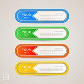Conjunto de cores de rótulo adesivo — Vetorial Stock
