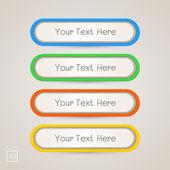 Aufkleber-etiketten-farben-set — Stockvektor