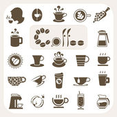 Coffee collection, Vector icons set — Stock Vector