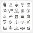 Business, finance icons set — Stock Vector