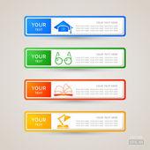 Etiqueta engomada etiqueta educación conjunto — Vector de stock