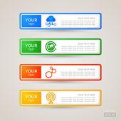 Sticker Label communication set — Stock Vector
