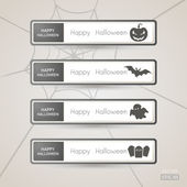 Sticker Label Halloween set — Cтоковый вектор