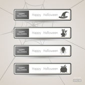 Sticker Label Halloween set — Vettoriale Stock