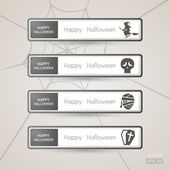Sticker Label Halloween set — Vector de stock