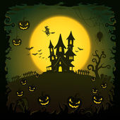 Scary house, Halloween background — Stock Vector