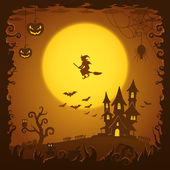 Scary house, Halloween background — Stockvektor