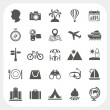 Travel and Vacation icons set — Imagen vectorial