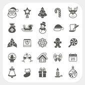 Conjunto de ícones de Natal e inverno — Vetor de Stock