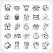 Stock vektor: Gift box icons set