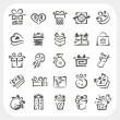 Gift box icons set — Stock Vector