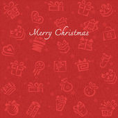 Christmas background with Gift box — Vector de stock