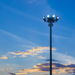 Light pole on blue sky background — Stock Photo