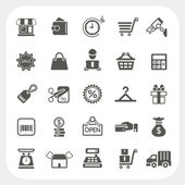 Shopping and Finance icons set — Stock Vector