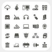 Computer Hardware icons set — Stok Vektör