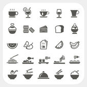 Food and Beverage icons set — Stock Vector