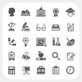 Jeu d'icônes de l'éducation — Vecteur