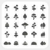 Tree icons set — Stock Vector