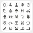 Health and Fitness icons set — ストックベクタ