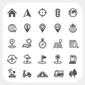 Map and Location icons set — Stock Vector