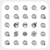 Globe earth vector icons set — Stock Vector