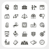 Business and finance icons set — Stock Vector