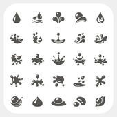 Water drop icons set — Stock Vector