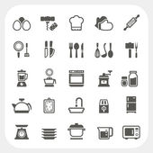Kitchen and cooking icons set — Stock Vector