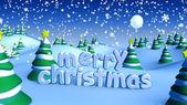 Merry christmas landscape 1 — Stock Photo