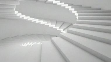 Boční animace schodišti — Stock video