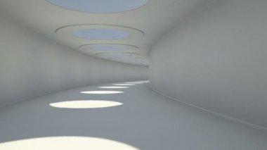 Tunnel oblo animation — Stock Video
