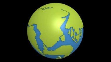 大陆漂移太平洋 — 图库视频影像