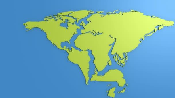 Deriva continental — Vídeo de stock