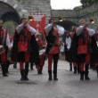 Palio del Baradello re-enacts Barbarossa's visit to his allies in Como after defeating Milan in the 1159 battle — Stock Video
