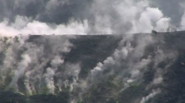 Sulfurous fumaroles, Vulcano, Italy — Stock Video