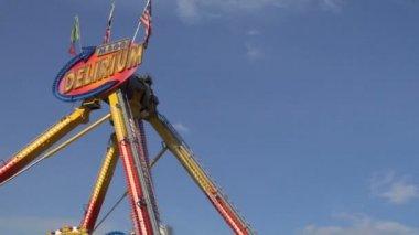 Amusement park - luna park — Stock Video