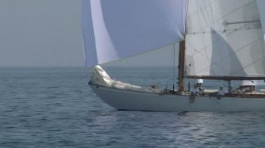 Old sail close up 01 — Stock Video