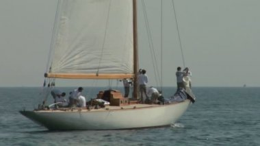 Old sail crew 03 — Stock Video