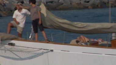 Gamla segel besättningen 09 — Stockvideo