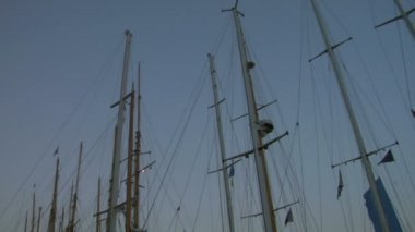 Old sail mast 01 — Stock Video