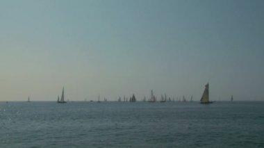 Regata de vela vieja 02 — Vídeo de Stock
