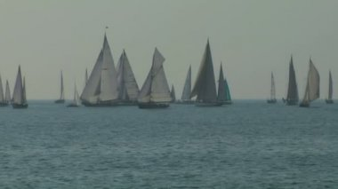 Old sail regatta 03 — Stock Video