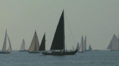 Old sail regatta 05 — Vídeo de stock