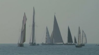 Alte segel regatta 09 — Stockvideo