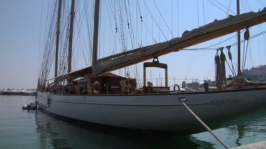 Old sail wharf 06 — Stock Video